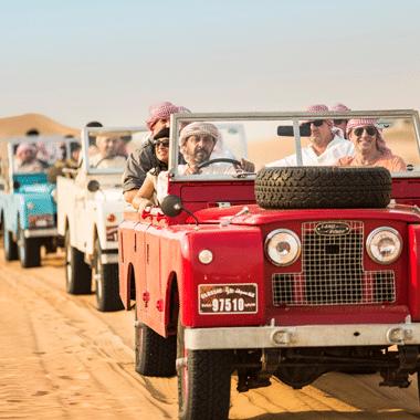 Vintage Land Rover Safari Dubai